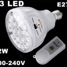 23 LED Rechargeable 2W Emergency Light Lamp with Remote Control  LED Lights  10pcs/lot