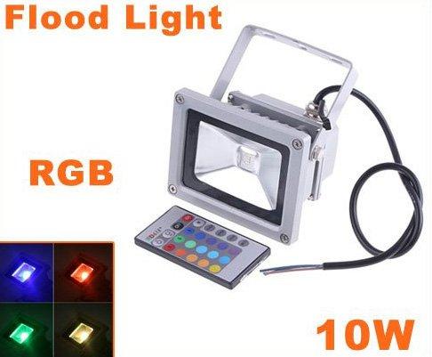 10W Waterproof Landscape Lamp RGB LED Flood Light  LED Flood Lamp  Free Shipping