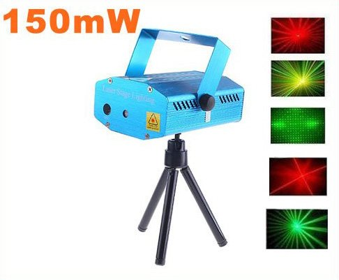 150mW Mini Red-Green Moving Party Stage Laser Light Projector  Free Shipping
