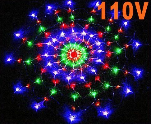 Colorful RGB LED Net Light Christmas Party Wedding Light  Free shipping 25pcs/lot
