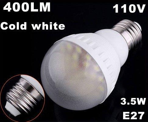 110V Bright E27 Bulb 400LM 3.5W 25 LED Bulbs  LED Lights  30pcs/lot