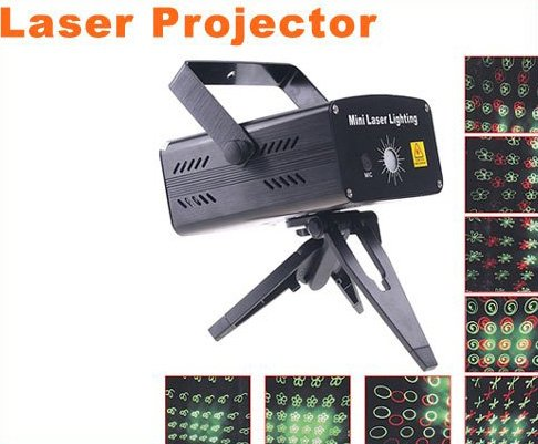 Mini Moving Party Stage Laser Projector  LED Stage Light  5pcs/lot