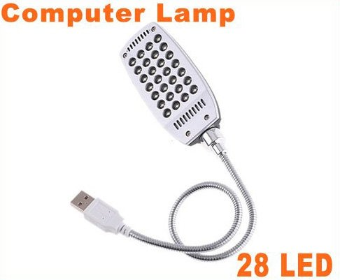 10pcs Bright Flexible Mini 28 LED USB Light Computer Lamp  Free Shipping
