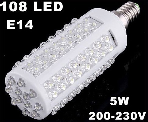 5pcs/lot  108 LED E14 Corn Light  LED Lights