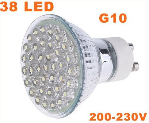 G10 38 LEDs 1.5W Energy Saving Lamp LED Light Bulbs 30pcs/lot  Free Shipping