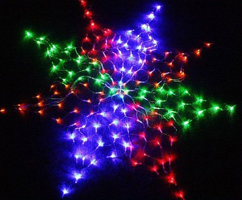 6pcs/lot  Colorful 160 LED US 110V  Net Light Christmas Party Wedding  Free shipping