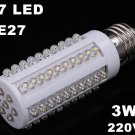 E27 Screw 3W 220V 67 Warm White LED Corn Light Bulb Lamp  10pcs/lot  Free Shipping