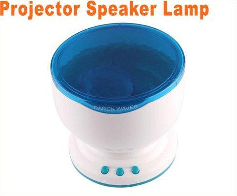 Amazing Daren Waves Night Light Projector Speaker Lamp  Free Shipping