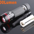 Zoomable 3 Mode CREE 200 Lumen LED Flashlight Torch  12pcs/lot  Free shipping