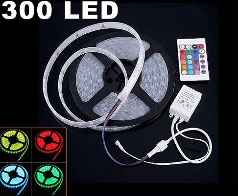 IP66 Waterproof 5M SMD 5050  300 LED RGB Strip Light  Free Shipping