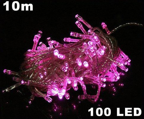 Pink 100 LED 10m String Light for Party Wedding  Free Shipping  Dropshipping