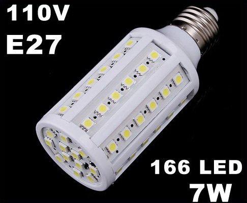 E27 9W 110V White LED Corn Light Bulb Lamp  Free Shipping  Retail