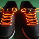 Orange LED Light Up Shoes shoelaces Luminous shoestring Flash Glow Stick  5sets/lot  Free Shipping