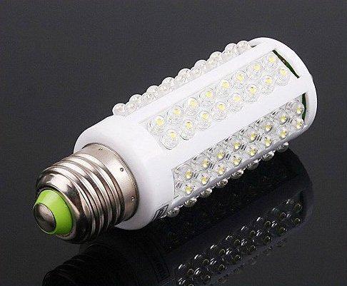 Free Shipping   7W 360 220V Ultra Bright 108 LEDs Corn Light Bulb E27 Natural White 50pcs/lot