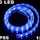 Blue IP66 Waterproof 1M SMD 3528 60 LED Strip Light  10pcs/lot  Free Shipping