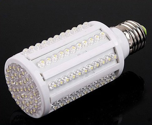 10pcs/lot 7W E27 White 220V 360 Degree 6500K 126 LED Corn Light Bulb Energy Saving Lamp