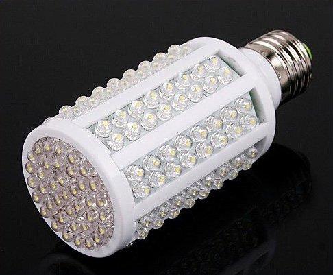 50pcs/lot White 8W E27 220V 166 LED Energy Saving Corn Light Bulb Lamp 360 Degree 6500K