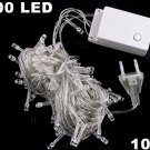 10pcs/lot  White 10m  100 LED String Light for  Party Wedding  Free Shipping
