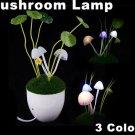 Romantic LED Avatar Mushroom Light With Light Sensitivity Function  Free Shipping