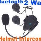 Hot Intercom Hand free Bluetooth Interphone 2-Way Motocycle Helmet Intercom  free shipping