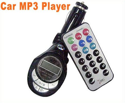 USB/SD/MMC Car MP3  Car mp3 Player With car FM Transmitter remote control 5pcs/lot