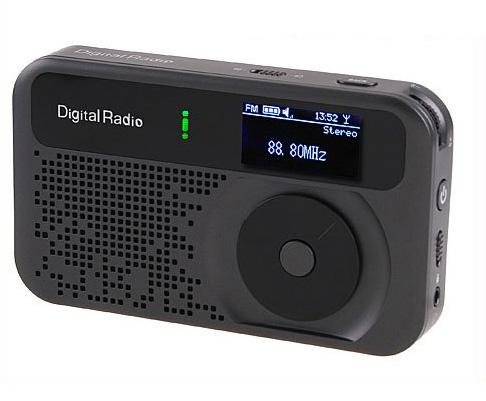 Pocket Mini DAB/DAB+ FM Radio MP3 Recorder Alarm Clock  free shipping