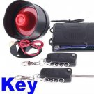 Car alarm system 1-Way Car Alarm Security System with Remote Control + Key free shipping