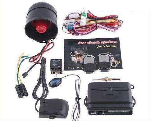 1-Way Car Alarm Car Security System with Remote Control Shock Sensor free shipping