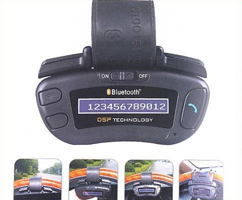 Mini Bluetooth Handsfree Car Kit Speakerphone with Caller ID  Free Shipping