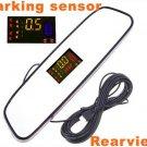 4 Parking Sensors Car Backup Reverse Radar Rearview Mirror car parking system