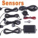 Car Parking Reverse Backup Radar Sound Alert + 4 Sensors back up radar/car parking kit