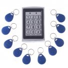 Wholesale RFID Entry Metal Door Lock Access Control System + 10 Key Fobs Free Shipping