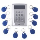 Wholesale LCD Display Networking Entry Door Access Control System + 10 Key Fobs Free Shipping
