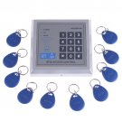 Wholesale RFID Proximity Entry Door Lock Access Control System + 10 Key Fobs Free Shipping