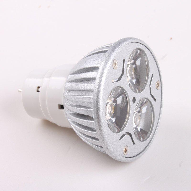 Energy 85-265V 3*1W Warm White LED Spot Light Lamp Bulb 5pcs/lot Free Shipping