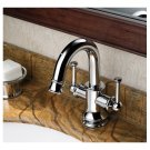 Chrome Two Handles single hole mount mixer taps Bath Sink Faucets(DZ2015) Free Shipping