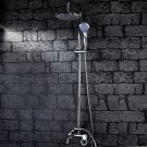 Wholesale 8 inch Chrome Rainshower Shower suit with Handshower and Shower Heads(D1000) Free Shipping
