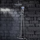 Wholesale 8 inch Chrome Rainshower Shower suit with Handshower and Shower Heads(D999) Free Shipping