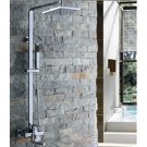 Wholesale 8 inch Chrome Rainshower Shower suit with Handshower and Shower Heads(D993) Free Shipping
