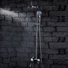 Wholesale 6 inch Chrome Rainshower Shower suit with Handshower and Shower Heads(D1003) Free Shipping
