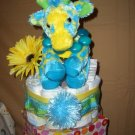 Cute yellow/teal giraffe Macy baby cake cupcake Jazzy collection