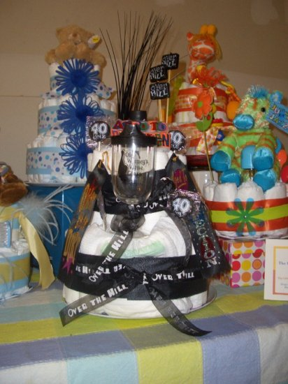"Over the Hill Collection ""Johnny Cake""  Adult diaper cake (adult diapers )"