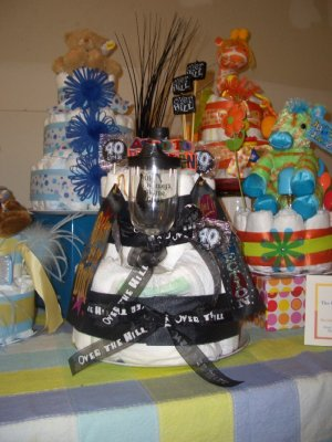 """Over the Hill Collection """"Johnny Cake""""  Adult diaper cake (adult diapers )"""