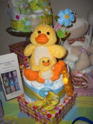 "Diaper Cake 1-tier Macy Baby Cake ""Cup Cake"""