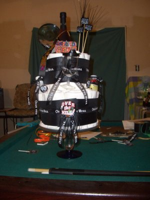 Over the Hill diaper cake Aged to Perfection
