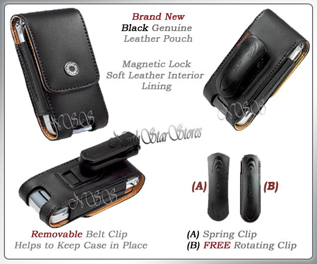 for APPLE iPHONE i PHONE PDA LEATHER CASE POUCH HOLSTER