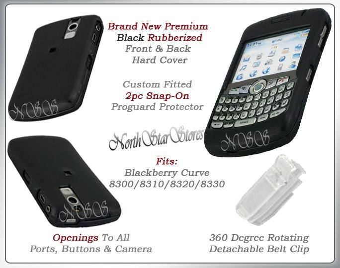 BLACKBERRY CURVE 8310 8320 8330 HARD BLACK CASE COVER