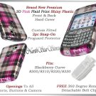 BLACKBERRY CURVE 8320 8330 PINK  PLAID CHECK COVER CASE