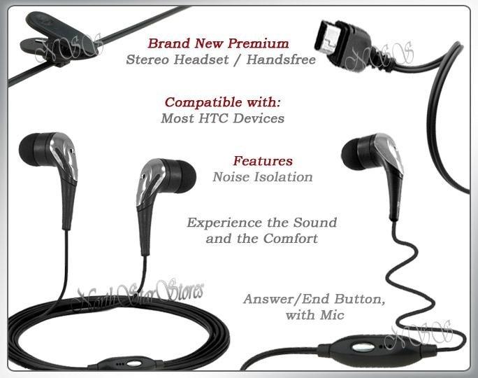 fr HTC TOUCH DIAMOND CDMA GSM HEADPHONES STEREO HEADSET