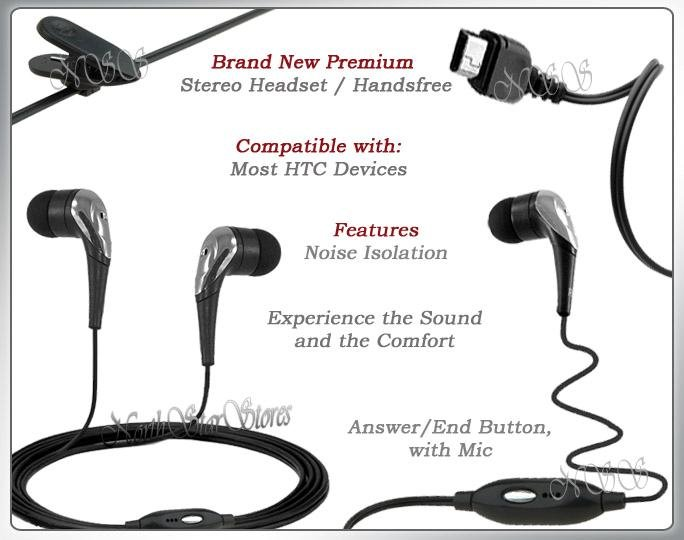 for HTC G1 GOOGLE HEADPHONES HANDSFREE STEREO HEADSET